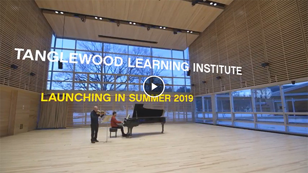 [Teaser Video for Tanglewood Learning Institute]